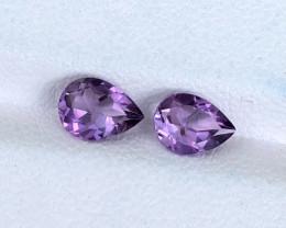 Natural Amethyst Pair 1.22 CTs Gems
