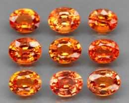 9Pcs/3.77Ct.5x4 mm.Very Good Color Imperial Sapphire Songea,Africa