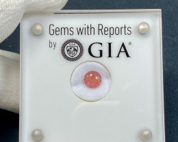 1.31ct GIA Padparadscha Sapphire -  Pinkish Orange / 6.35 x 6.45mm / Certif