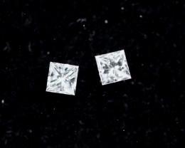 2.0mm D-F Brilliant Princess Cut VS Loose Diamond 2 pcs