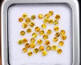 3.31cts Natural Diamond Cutting Yellow Sapphire Lot / MA2147