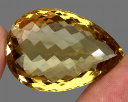 99.39 ct. Top Quality Natural Golden Yellow Citrine Brazil Unheated