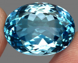 20.30 ct. 100% Natural Earth Mined Top Quality Blue Topaz Brazil