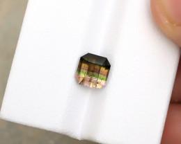 1.75 Ct Natural Tri Color Transparent Tourmaline Ring Size Gemstone