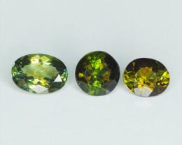 3 Pcs Untreated Green Tourmaline Natural Gemstone