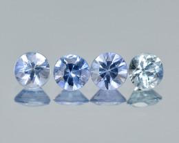 Sapphire 0.72 Cts 4Pcs Natural Blue Color Gemstones