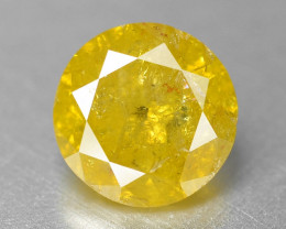 Diamond 0.27 Cts Sparkling Fancy Yellow Natural