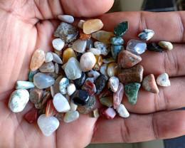 200 Ct Tumbled Gemstones Mix Lot 100% NATURAL AND UNTREATED VA977