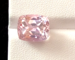 7.40 carats, Natural Pink Kunzite.