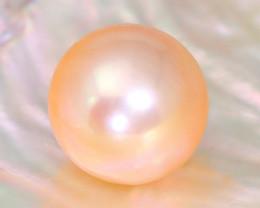 12.2mm 12.89Ct Natural Australian South Sea Orange Color Pearl SA143