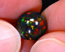 Welo Opal 2.08Ct Natural Ethiopian Smoked Play of Color Opal D0525/A3