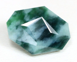 Jadeite Jade 6.12Ct Master Cut Natural Green Jodeite Jade ET224