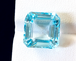 16.30 carats, Natural Blue Topaz.