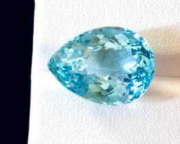 18.23 carats, Natural Blue Topaz.