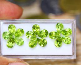 11.91ct Natural Green Peridot Pear Cut Lot B4327