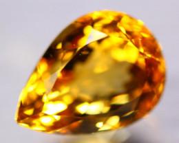15.26Ct Natural Yellow Citrine Pear Cut Lot B4344