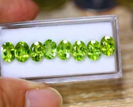 10.53ct Natural Green Peridot Pear Cut Lot B4352