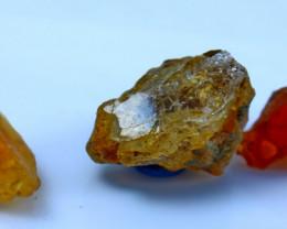 68.75  CTs Natural & Unheated~Orangfe Opal Rough Lot