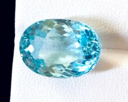 17.60 carats, Natural Blue Topaz.