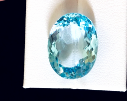 23.60 carats, Natural Blue Topaz