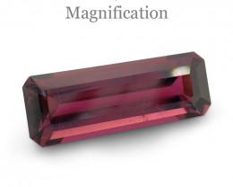 2.64ct Baguette pinkish Purple Tourmaline from Brazil