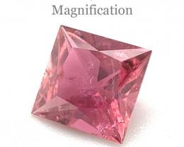 1.06ct Square purplish Pink Tourmaline from Brazil- $1 NR Auction