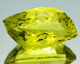 11.68 Cts Supreme Natural Lemon Quartz Fancy Custom Cut Collectible REF VID