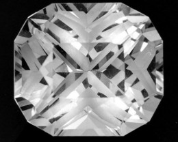 9.86 Cts Glamorous Natural White Topaz Cushion Custom Cut Ref VIDEO