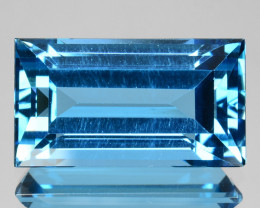 9.16 Cts Fine Quality Natural London Blue Topaz Octagon Cut Ref VIDEO