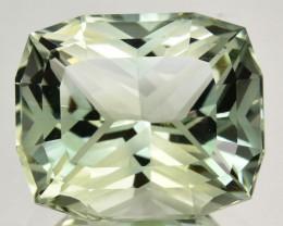 10.45 Cts Fine Facet Natural Prasiolite Amethyst Cushion Precision Cut REF
