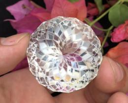 Presenting The Flower cut 213.30 ct Precious Quartz
