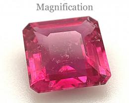 2.34ct Square purplish Pink Tourmaline from Brazil