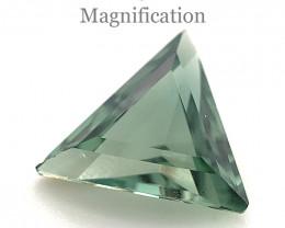 1.86ct Triangle bluish Green Tourmaline from Brazil