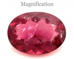3.56ct Oval Pink Tourmaline from Brazil