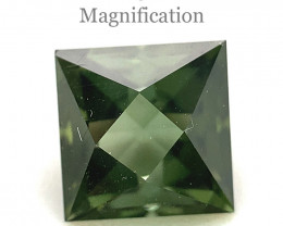 1.9ct Square yellowish Green Tourmaline from Brazil