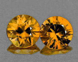 5.00 mm Round 2 pcs 1.30cts Imperial Champagne Zircon [VVS]