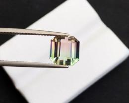 5.250(ct)Intense Tri-Color Nigerian Tourmaline Faceted Gemstone
