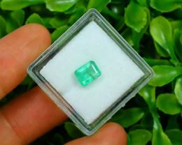 Panjshir 1.25Ct Octagon Cut Natural Afghanistan Green Emerald SA188
