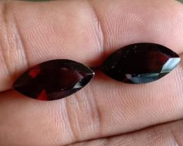 18 x 9 mm Garnet Gemstone 100% NATURAL AND UNTREATED VA1017