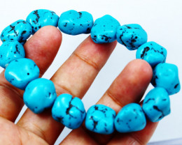 255  Cts Natural & Unheated~Turquosie Beads Bracelets