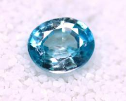 Blue Zircon 3.26Ct Natural Cambodian Blue Zircon  E0615/B6