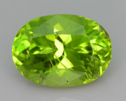 Gorgeous Parrot Color 2.85 ct Peridot Ring Size