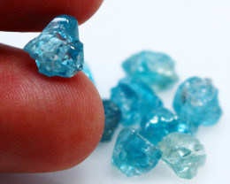 25.35 CTs Natural & Unheated~Blue Zircon Rough Lot