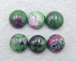 D2506 - 27.5cts ruby and zoisite cabochons,natural ruby and zoisite gemston