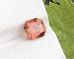 Asscher Cut  2.10 ct Baby Pink Color Natural Tourmaline