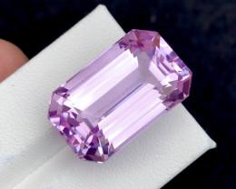 36.80 Carat Natural Light Pink  Fancy Emerald Cut Kunzite Gemstone