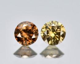 Untreated Diamond 0.14 Carat 100% Natural Fancy Deep Brown Color