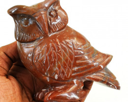 Genuine 1753.00 Cts Jasper Owl Carving