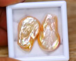 32.71ct Natural Australia South Sea Keshi Pearl Freeform Pearl Lot GW9439