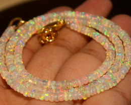 27 Crts Natural Welo Opal Beads Necklace 864